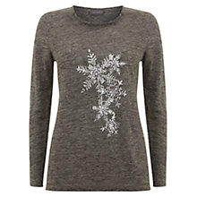 Buy Mint Velvet Ana Foil Print Tee, Grey Online at johnlewis.com