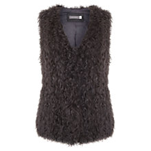 Buy Mint Velvet Shearling Gilet, Grey Online at johnlewis.com