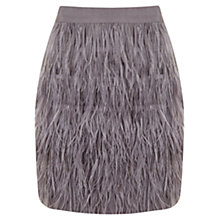 Buy Mint Velvet Feather Mini Skirt, Grey Smoke Online at johnlewis.com