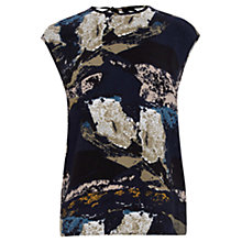 Buy Warehouse Texture Graphic Wrap Top, Multi Online at johnlewis.com