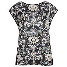 Buy Ted Baker Quaye Gem Print Tee, Black Online at johnlewis.com