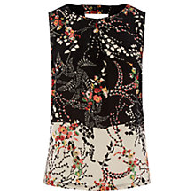 Buy Warehouse Printed 70s Floral Top, Multi Online at johnlewis.com