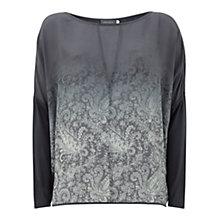 Buy Mint Velvet Helena Print Ombre T-Shirt, Multi Online at johnlewis.com