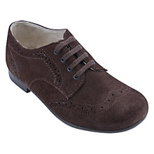 Buy Start-Rite Charles Classics Suede Brogue Shoes, Brown Online at johnlewis.com
