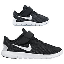 Buy Nike Children's Free 5.0 Running Shoes, Black/White Online at johnlewis.com