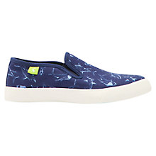 Buy Little Joule Children's Skater Canvas Slip-On Shoes Online at johnlewis.com