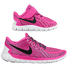 Buy Nike Children's Free 5.0 Running Shoes, Pink/Black Online at johnlewis.com