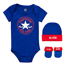 Buy Converse Baby Romper and Bootie Set, Blue Online at johnlewis.com