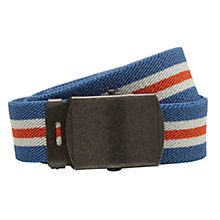 Buy John Lewis Boys' Stripe Stretch Belt, Blue/Red Online at johnlewis.com