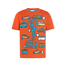 Buy John Lewis Boys' Race To The Beach T-Shirt, Orange Online at johnlewis.com