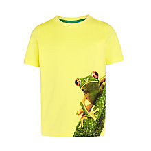 Buy John Lewis Boys' Tree Frog Print T-Shirt, Yellow Online at johnlewis.com