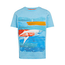 Buy John Lewis Boys' Shark Graphic T-Shirt, Blue Marl Online at johnlewis.com