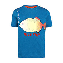 Buy John Lewis Boys' Hungry Piranha T-Shirt, Navy Online at johnlewis.com
