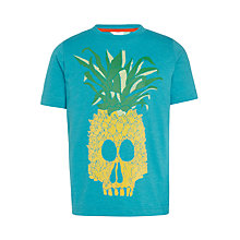 Buy John Lewis Boys' Pineapple Skull T-Shirt, Blue Online at johnlewis.com