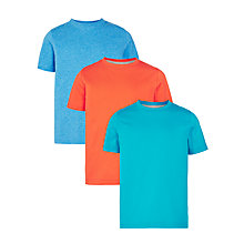 Buy John Lewis Boys' Solid T-Shirt, Pack of 3 Online at johnlewis.com