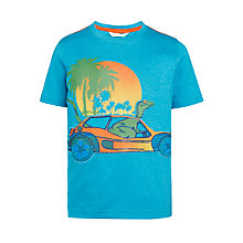 Buy John Lewis Boys' Beach Buggy Print T-Shirt, Blue Online at johnlewis.com