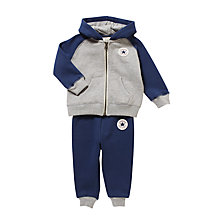 Buy Converse Baby Hoodie and Jogger Set, Navy Online at johnlewis.com