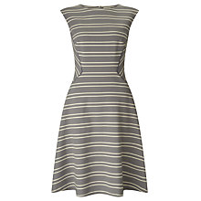 Buy John Lewis Beaumont Fit And Flare Stripe Dress, Grey Online at johnlewis.com