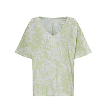 Buy Kin by John Lewis Mineral Print T-Shirt, Pale Green Online at johnlewis.com