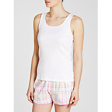 Buy John Lewis Rib Vest Top, White Online at johnlewis.com
