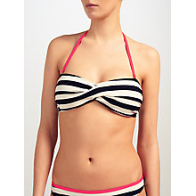 Buy Ted Baker Ciranoo Striped Bikini Top, Navy/White Online at johnlewis.com