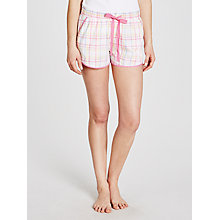 Buy John Lewis Vintage Check Pyjama Shorts, White/Pink Online at johnlewis.com