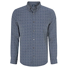 Buy John Lewis Shell Print Shirt, Navy Online at johnlewis.com