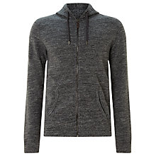 Buy JOHN LEWIS & Co. Jaspe Cotton Full Zip Hoodie, Grey Online at johnlewis.com