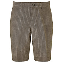 Buy John Lewis Linen Cotton Pinstripe Shorts, Taupe Online at johnlewis.com