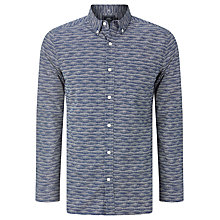 Buy John Lewis Dot Wave Print Shirt, Navy Online at johnlewis.com