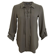 Buy Miss Selfridge Lace-Up Shirt Online at johnlewis.com