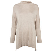Buy Whistles Soft Funnel Neck Knit, Beige Online at johnlewis.com