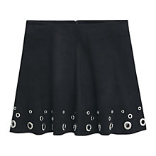 Buy Mango Decorative Stud Skirt, Black Online at johnlewis.com