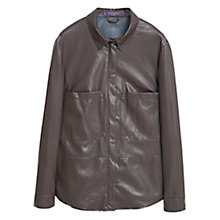 Buy Violeta by Mango Chest Pocket Over Shirt, Dark Brown Online at johnlewis.com