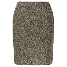 Buy Precis Petite Bouclé Skirt, Dark Brown Online at johnlewis.com