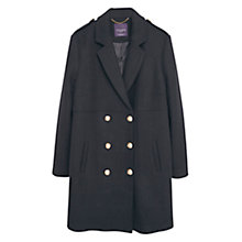 Buy Violeta by Mango Double Breasted Wool Coat, Black Online at johnlewis.com
