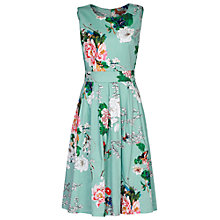 Buy Jolie Moi Floral Retro Dress, Aqua Online at johnlewis.com