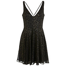 Buy Miss Selfridge Plunge Neck Skater Dress, Black Online at johnlewis.com