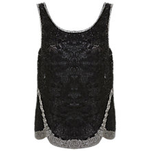 Buy Miss Selfridge Lisa Top, Black, Black Online at johnlewis.com