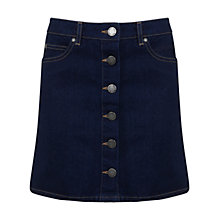 Buy Miss Selfridge Petites Denim Skirt, Indigo Online at johnlewis.com