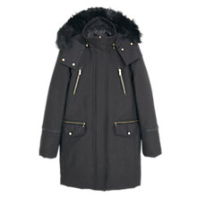 Buy Mango Cotton Hooded Coat Online at johnlewis.com