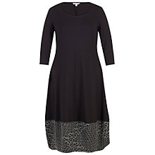 Buy Chesca Diamond Jacquard Trim Dress, Black Online at johnlewis.com