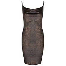 Buy Miss Selfridge Cowl Neck Dress, Bronze Online at johnlewis.com