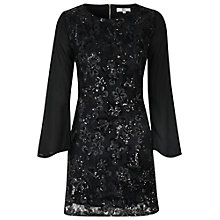 Buy True Decadence Sheer Sleeve Tunic Dress, Black Online at johnlewis.com
