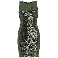 Buy Belle by Badgley Mischka Sequin Bodycon Dress, Emerald Online at johnlewis.com