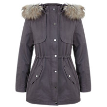 Buy Miss Selfridge Faux Fur Trim Parka Online at johnlewis.com