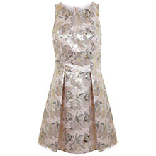 Buy Miss Selfridge Floral Jacquard Skater Dress, Pink Online at johnlewis.com