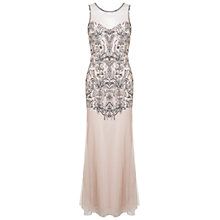 Buy Miss Selfridge Fleur Maxi Dress, Nude Online at johnlewis.com