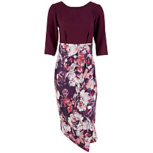 Buy Closet Floral Wrap Dress, Purple Online at johnlewis.com