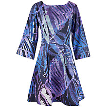 Buy Closet Floral Wide Sleeve Dress, Purple Online at johnlewis.com